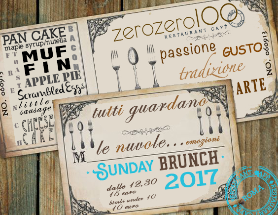 zerozero100 brunch della domenica