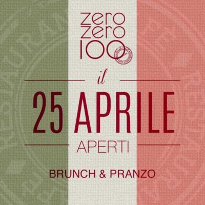 zerozero100 brunch 25 aprile 2018